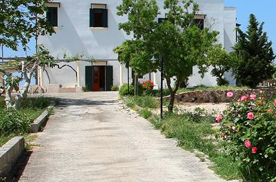 Viale ingresso con fiori